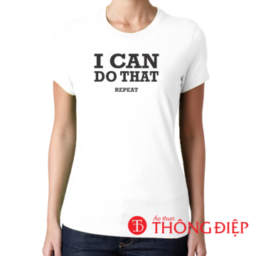 I can do that