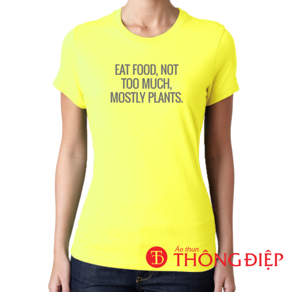 Eat food, not too much, mostly plans.